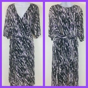 Fashion Bug 2X Purple Zebra Print Wrap Plus MO14